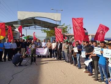 وقفة جماهيرية حاشدة لـ«الديمقراطية» أمام حاجز بيت حانون تدعو لإنهاء الانقسام وتطبيق قرارات «المركزي» و«الوطني»