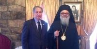 الديمقراطية تلتقي البطريارك يوحنا اليازجي بطريرك أنطاكيا في لبنان