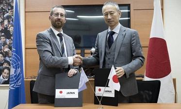 اليابان تتبرع بمبلغ 23,5 مليون دولار للأونروا منهم 600 آلف دولار لدعم تعليم أطفال فلسطينيي سورية