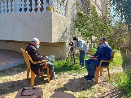 اللجنة الشعبية بمُخيّم رفح تباشر تسجيل سلسلة حلقات التاريخ الشفوي حول الهجرة الفلسطينية
