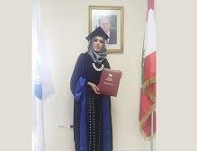 الجامعة اللبنانية تمنح فلسطينية الدكتوراه باللغة العربية بتقدير جيد جداً مع التنويه