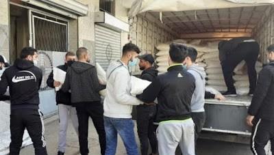 الصليب الأحمر الدولي يوزّع كميّات من الأرز في مخيم عين الحلوة