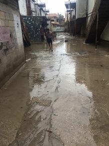 منزل في برج الشمالي يغرق بالأمطار ومناشدات للمساعدة