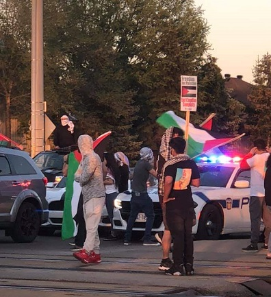 مظاهرة حاشدة في مدينة ميسيساجا الكندية دعما للشعب الفلسطيني