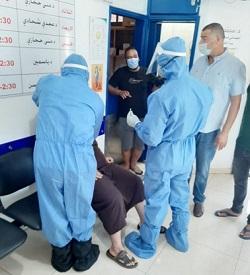 فريق مستشفى الهمشري أجرى 32 فحصا لمخالطي مصابين في
