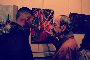 فنانون فلسطينيون من مخيم جرمانا يشاركون في معرض