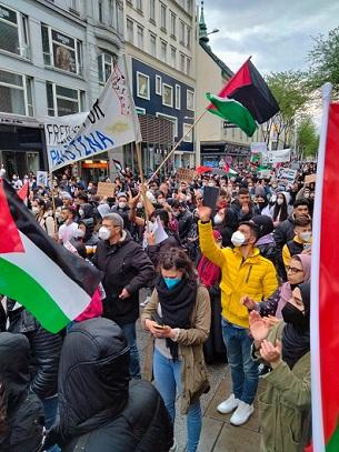 مظاهرة حاشدة في النمسا تضامنا مع الشعب الفلسطيني واستنكارا للاعتداءات الإسرائيلية المتواصلة
