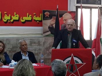 نائب امين عام الجبهة الديمقراطية فهد سليمان في مؤتمر داعم لمسيرات العودة: