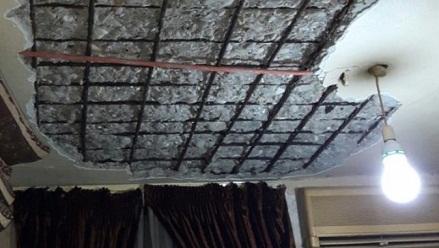 انهيار سقف منزل لاجئ في مخيّم عين الحلوة