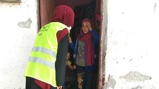 توزيع سلل صحية على العائلات الفلسطينية في أنقرة