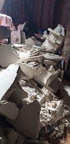 عدد من الإصابات بسقوط سقف منزل في