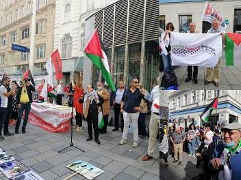مظاهرة جماهيرية حاشدة رفضا لصفقة القرن ومشروع الضم في النمسا