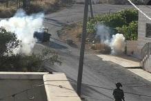 مواجهات بعد اقتحام جيش الاحتلال لمدخل نابلس الجنوبي
