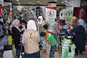 الهيئة الخيرية توزع مساعداتها في مخيمي اليرموك والعائدين بحمص