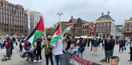 هولندا: وقفة تضامنية مع الشعب الفلسطيني في مدينة