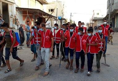 كتلة الوحدة العمالية لا زالت تواصل جهودها ضمن خطة الطوارئ التي أقرتها في بداية انتشار فايروس كورونا داخل قطاع غزة.